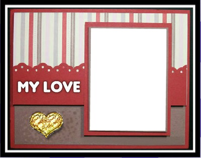 Photo montage My love frame heart 1 - Pixiz