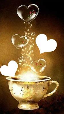 potion ou café d'amour  2 photos cadres
