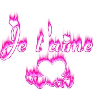 Je t'aime St valentin