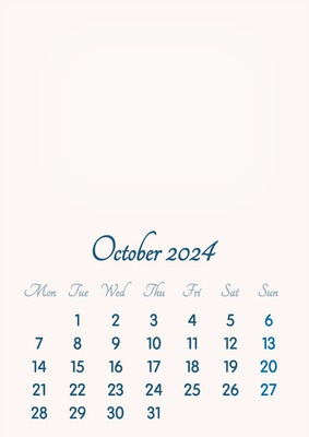October 2024 // 2019 to 2046 // VIP Calendar // Basic Color // English
