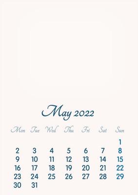 May 2022 // 2019 to 2046 // VIP Calendar // Basic Color // English