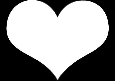 1 photo 1 coeur sur fond noir