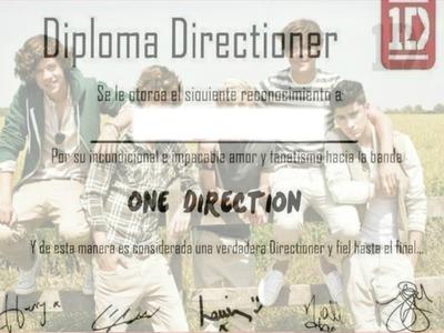 diploma de one direction