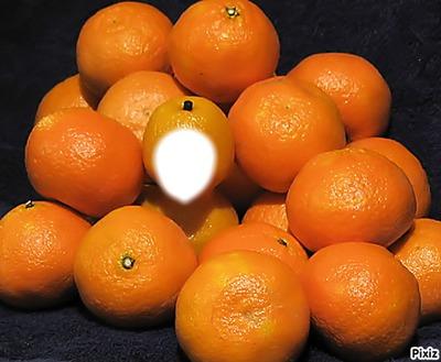 sous un tas d'orange