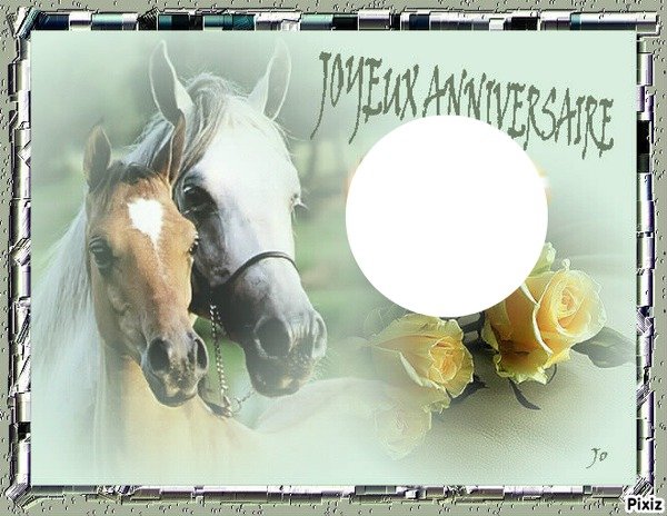 foto de Montage photo Anniversaire chevaux Pixiz