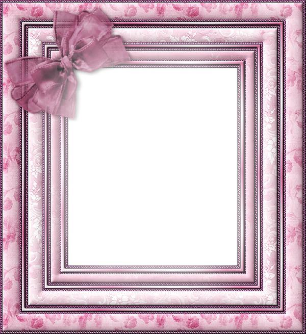 montage photo cadre rose avec noeud pixiz. Black Bedroom Furniture Sets. Home Design Ideas