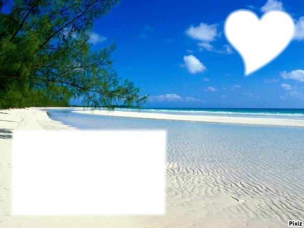 Montage photo fond cran plage avec elles pixiz for Fond ecran plage gratuit