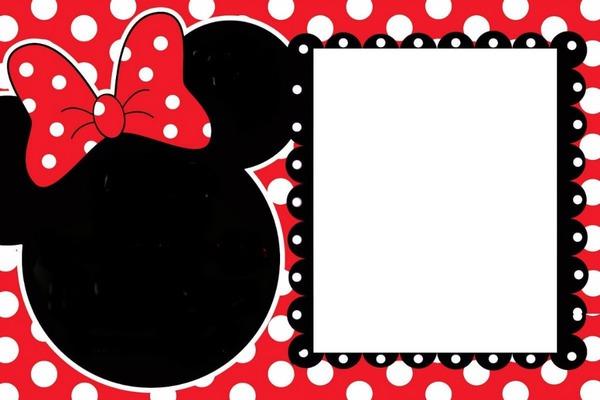 Fotomontagem Moldura Minnie Vermelha Pixiz