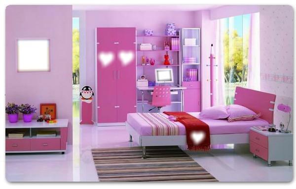 Montaje fotografico cuarto rosa pixiz for Ideas para decorar habitacion sorpresa
