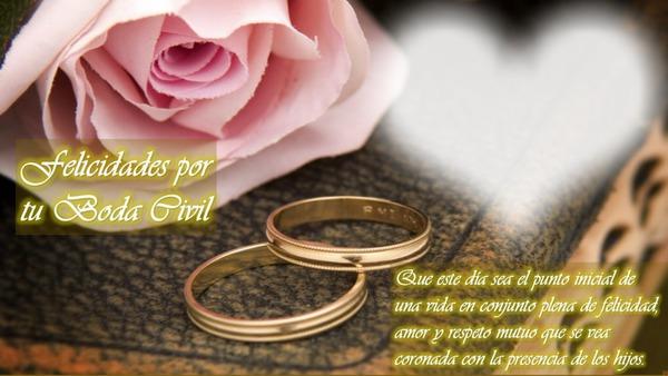 Matrimonio Civil Biblia : Photo montage felicidades boda civil con frase pixiz