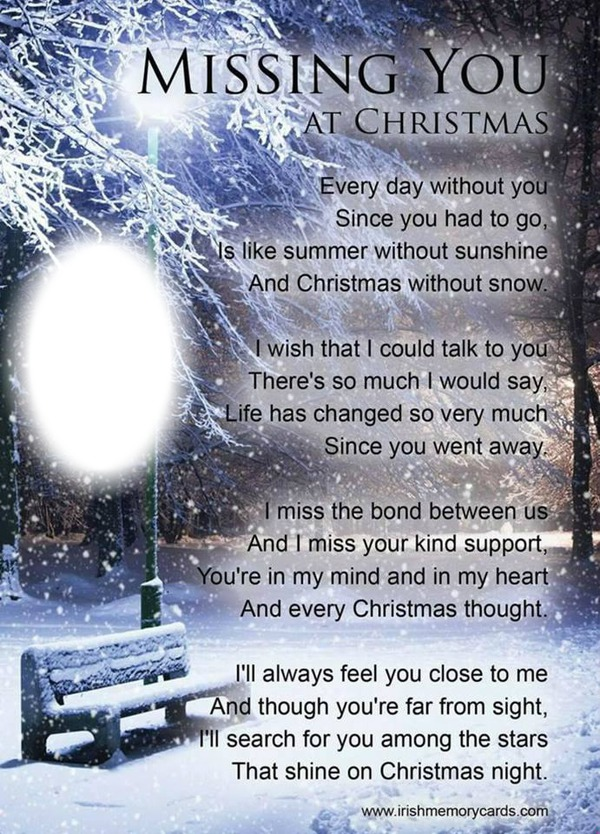 Missing My Husband At Christmas Quotes: Montage Photo Missing You At Christmas