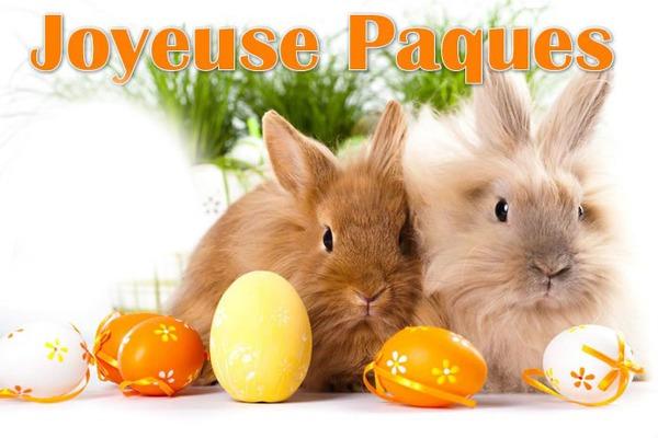 Montage photo joyeuse paques easter lapin rabbit gothika cadre pixiz - Image de paques gratuit ...