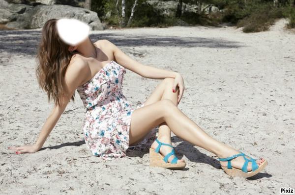 montaje fotografico une fille sur la plage pixiz. Black Bedroom Furniture Sets. Home Design Ideas