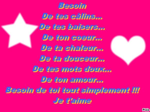 Montage photo po me d 39 amour pixiz - Poeme d amour a imprimer ...