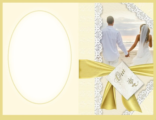 photo montage cadre mariage gaetana pixiz. Black Bedroom Furniture Sets. Home Design Ideas