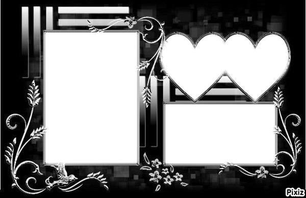 montage photo le petit cadre pour les amoureux x3 pixiz