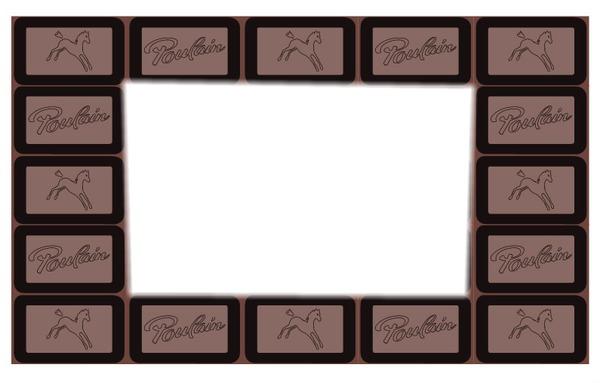 Montage photo tablette chocolat poulain pixiz - Emballage tablette chocolat a imprimer gratuit ...
