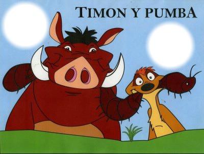 Montage photo timon et pumba pixiz - Les aventures de timon et pumba ...