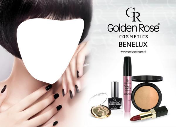 Photo montage golden rose cosmetics benelux advertising pixiz